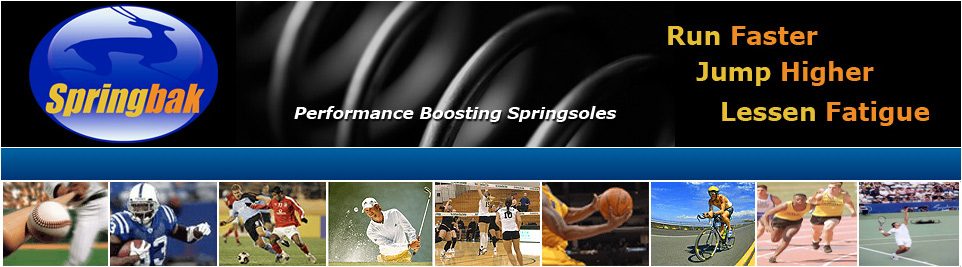 Springbak Springsoles / Springbak Insoles - Increase Strength, Run Faster, Jump Higher, Reduce Fatigue