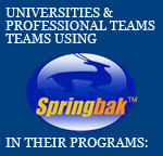 Universities & Professional Teams Using Springbak Springsoles