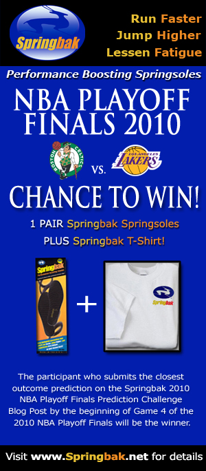 The Springbak 2010 NBA Playoff Finals Prediction Challenge