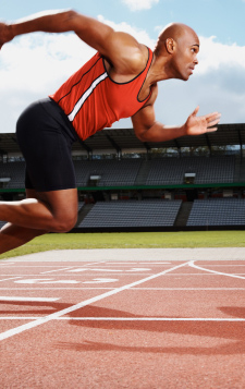 Male Track Athlete - Sprinter