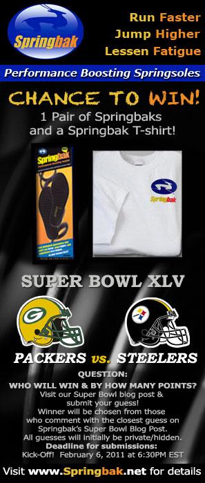 Springbak Springsoles Super Bowl XLV Contest - 2011