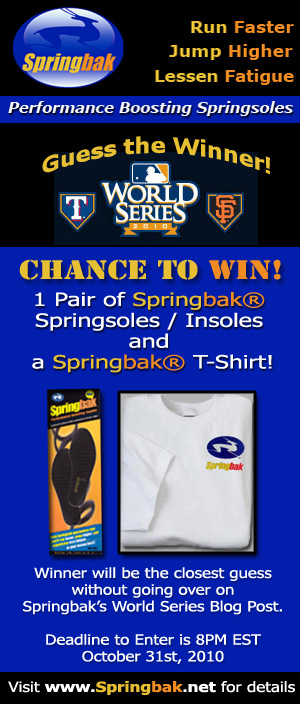 Springbak's World Series 2010 Blog Contest