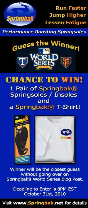 Springbak's World Series 2010 Blog Contest