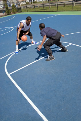 Basketball Players - Foot Stance