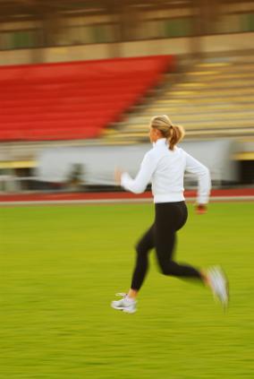 female runner training