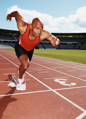 Track Athlete Sprinting